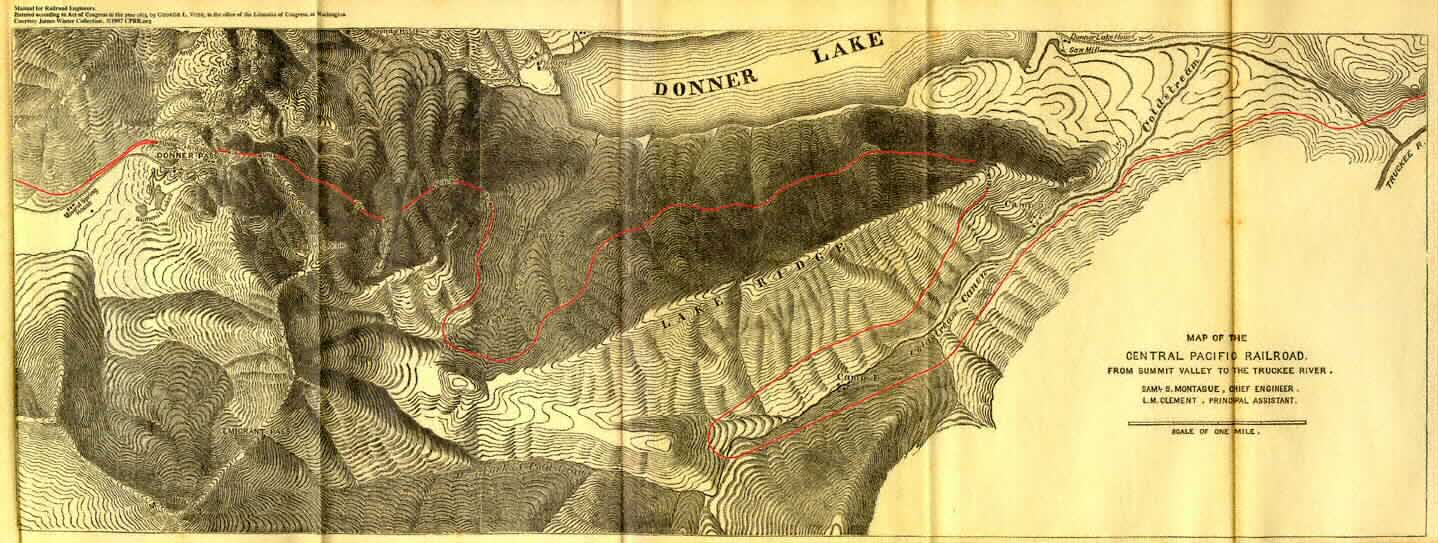 Route of the CPR through Donner Pass