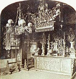 Chinese Joss House, San Francisco (Stereoview detail)