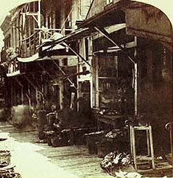 Chinese Market, San Francisco (Houseworth Stereoview, detail)